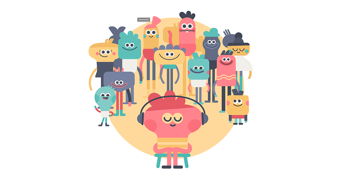 types of headspace. Meditation clipart positive body image