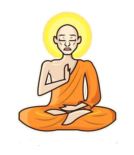 Meditation zen frames illustrations. Respect clipart buddhist priest