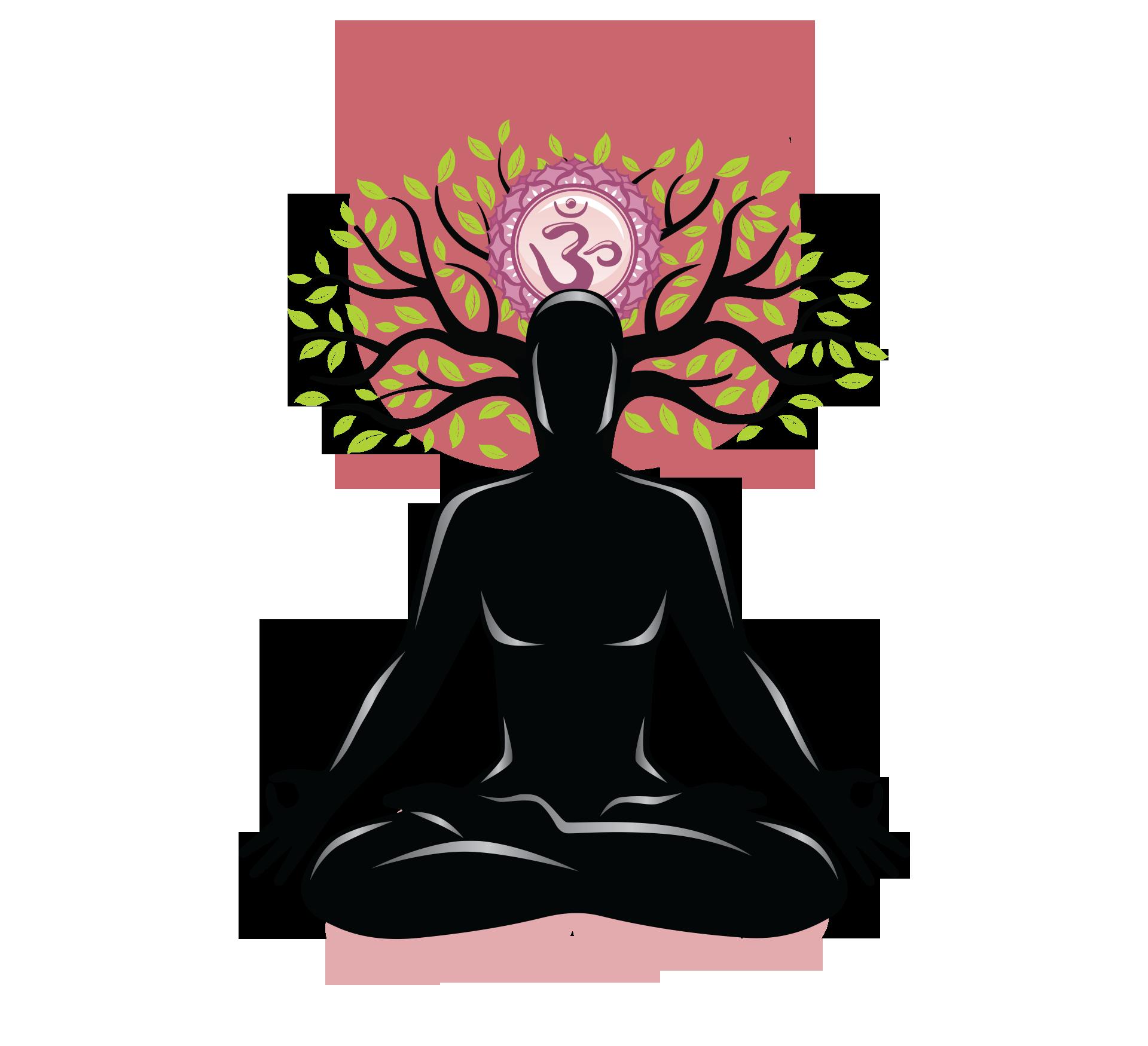 Home page tree. Meditation clipart spiritual health