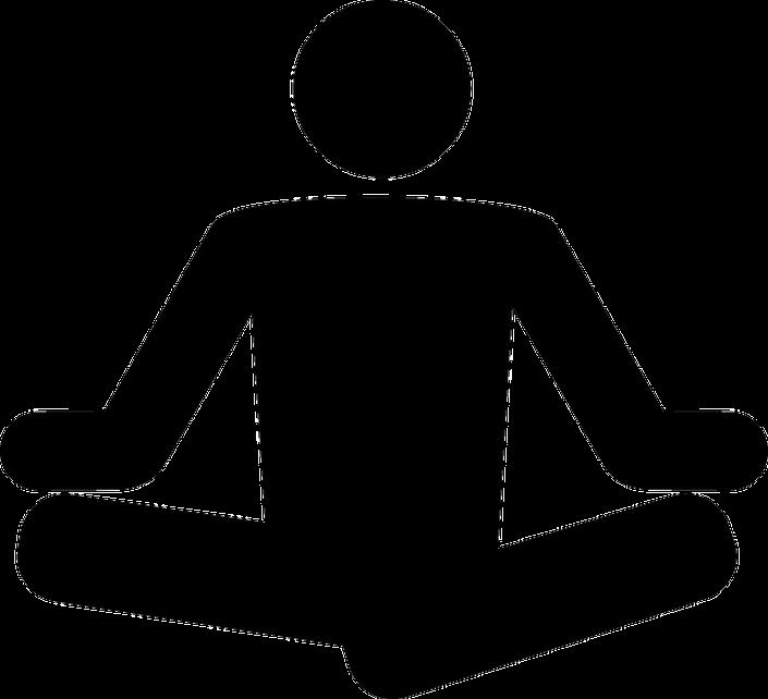 Made simple badlands yoga. Meditation clipart stress relief