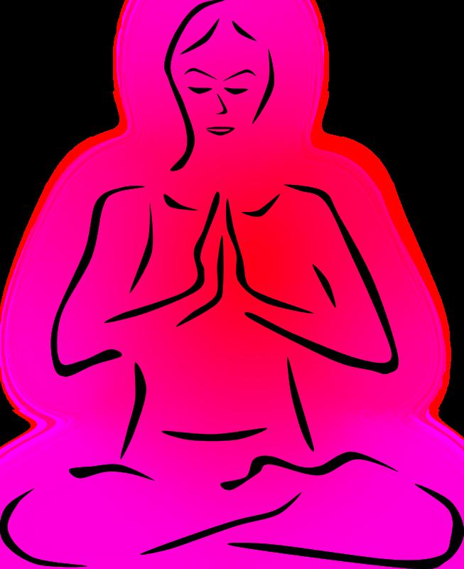 Yoga poses stylized colored. Meditation clipart yaga