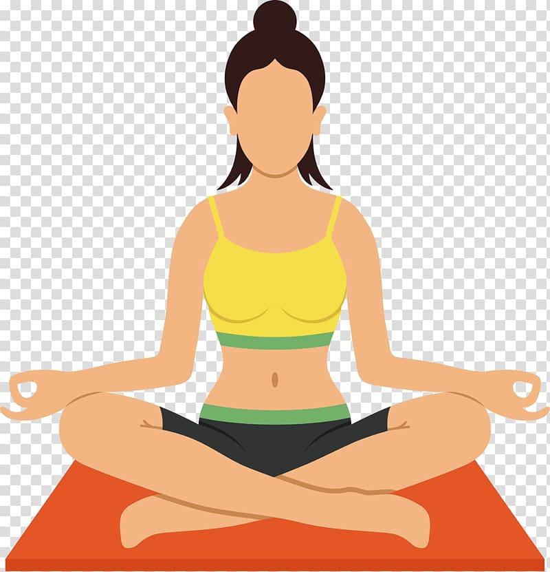 Yoga instructor transparent . Meditation clipart yaga