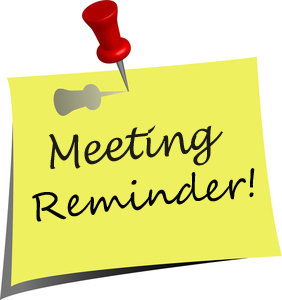 Reminder . Meeting clipart