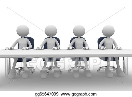 Stock illustration drawing gg. Meeting clipart corporation
