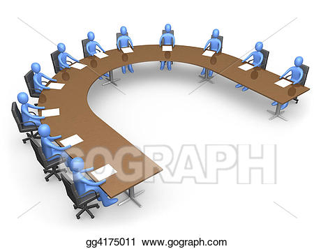 Meeting clipart corporation. Drawing the council gg