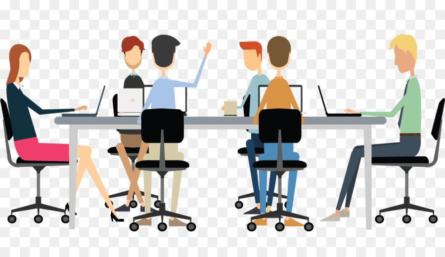 Meeting clipart desk. Business teamwork student
