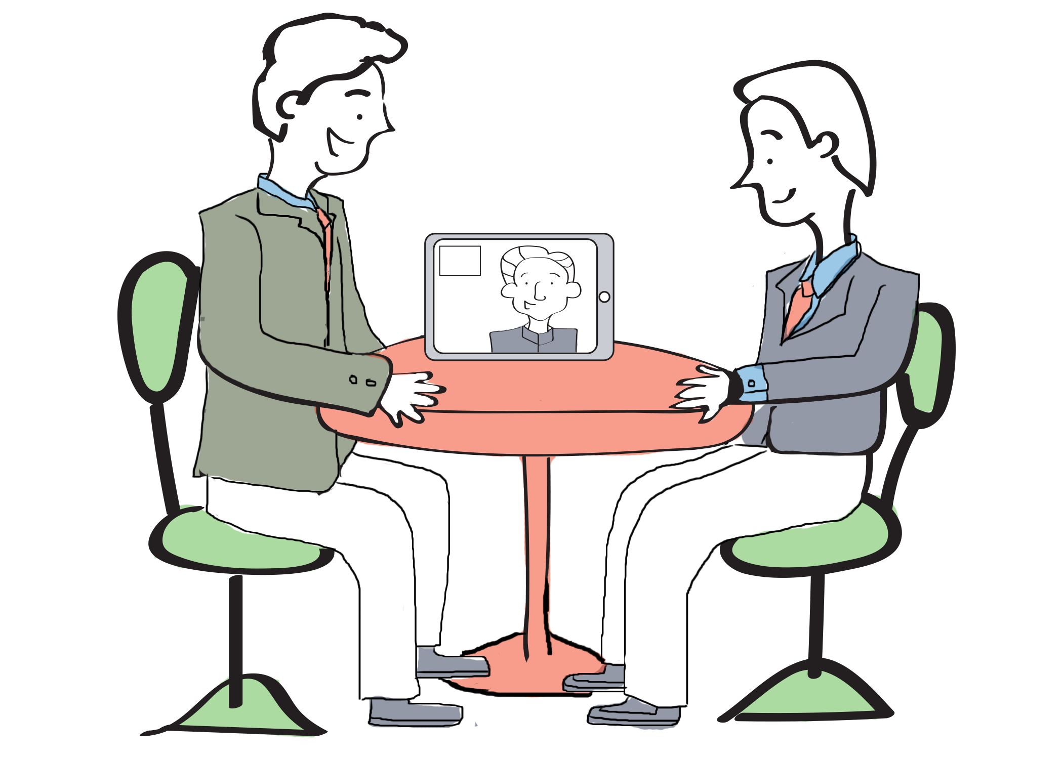 Sales illustration deltapath solutions. Meeting clipart executive meeting