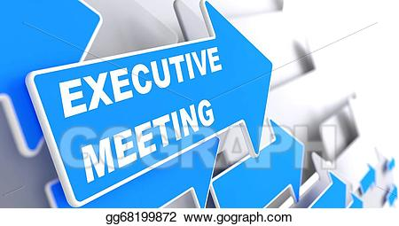 Stock illustrations on blue. Meeting clipart executive meeting