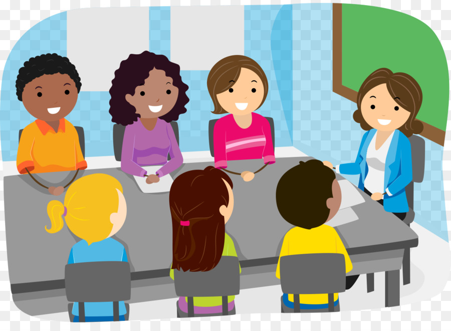 Parents clipart parent meeting. School child teacher illustration