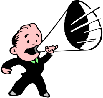 Megaphone clipart. People with