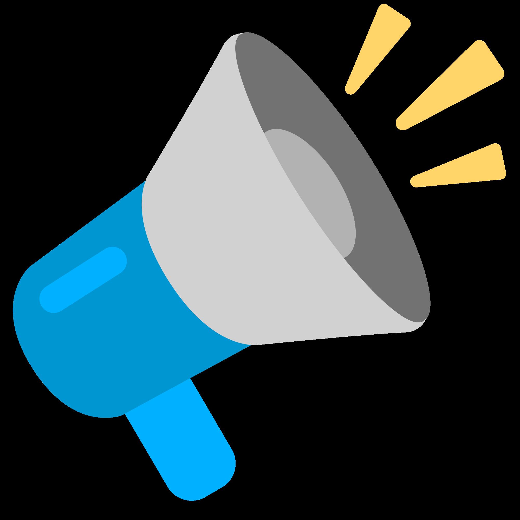 File fxemoji u f. Megaphone clipart emoji