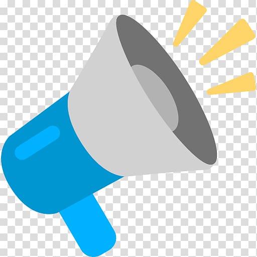 Loudspeaker information sms . Megaphone clipart emoji
