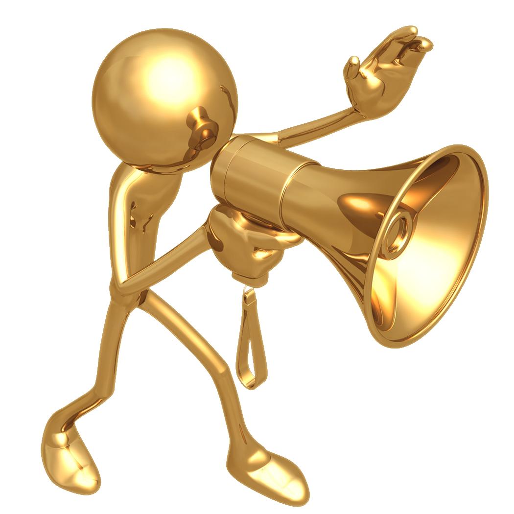 Arceil on leadership posts. Megaphone clipart forceful