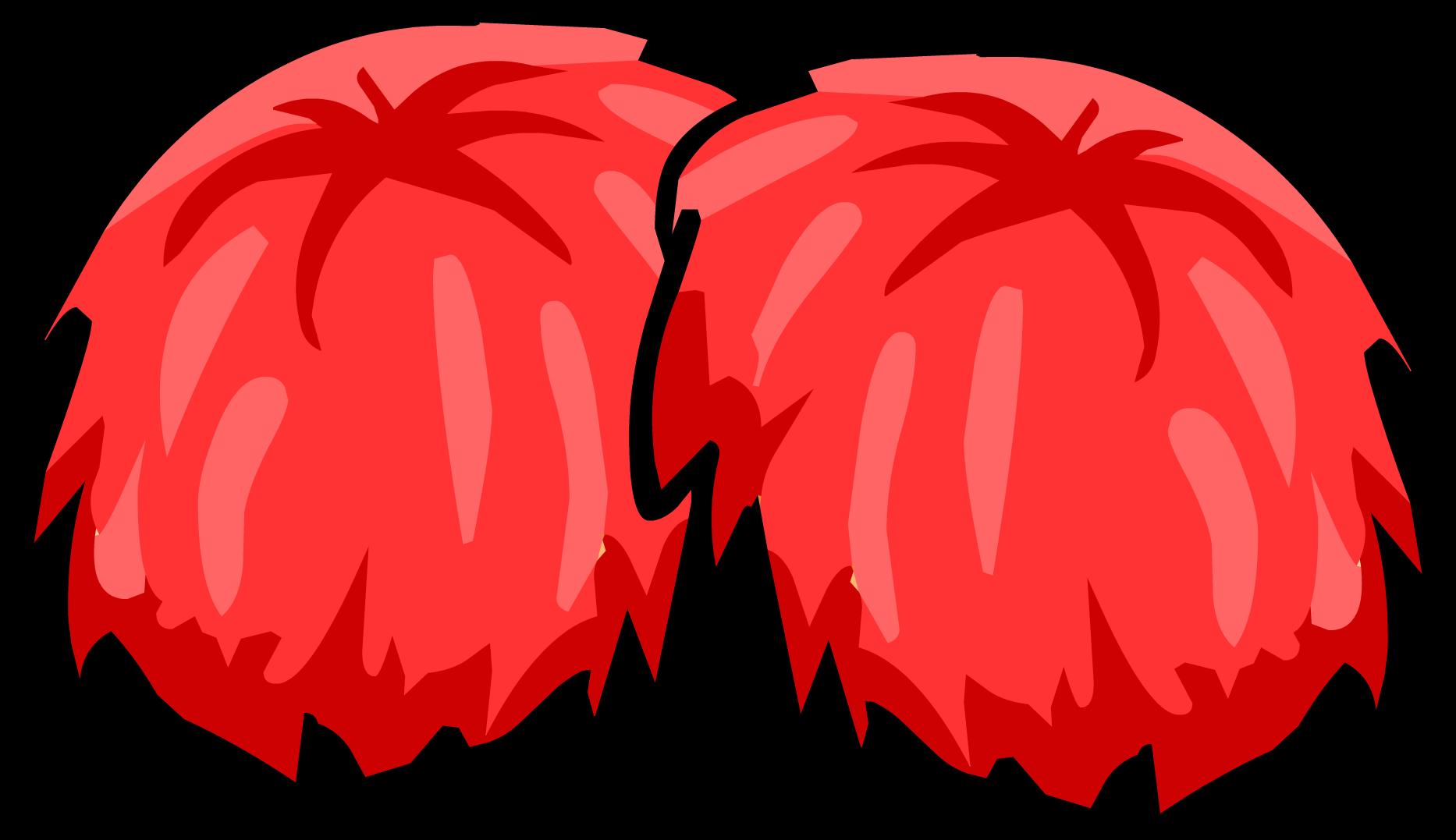 White clipart pom pom. Red poms png transparent