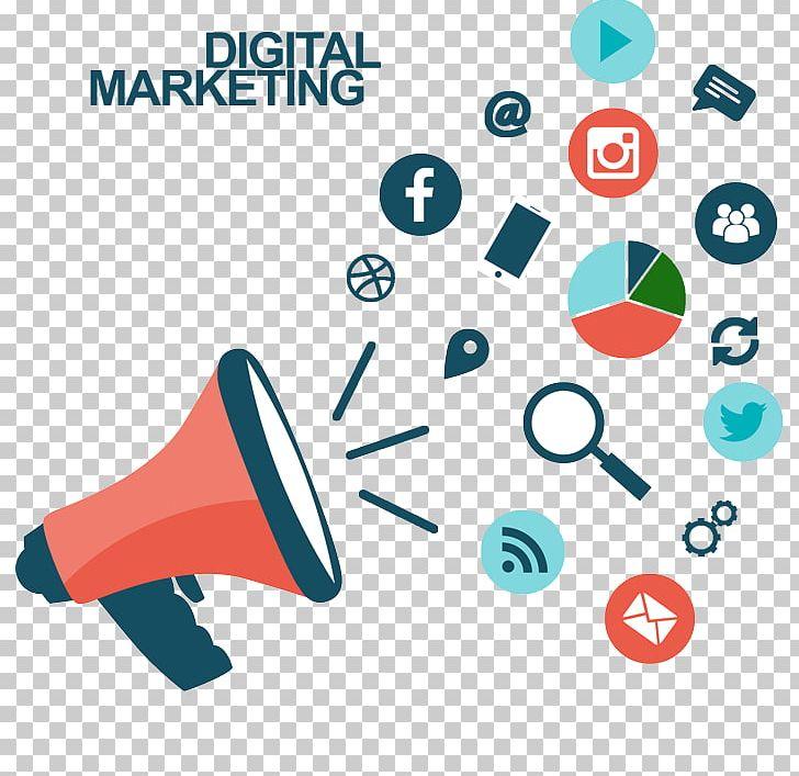 Megaphone clipart public relation. Digital marketing social video