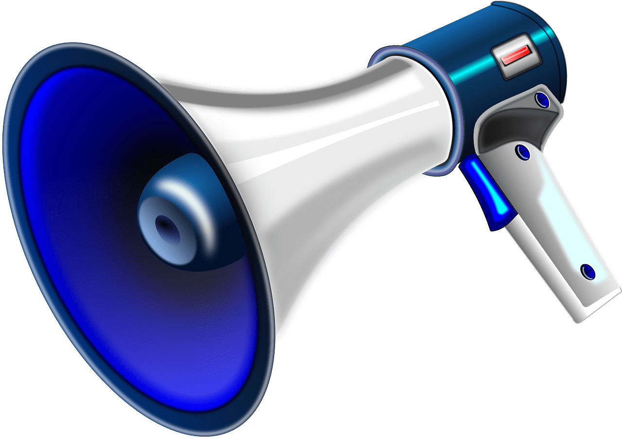 Megaphone clipart rant. Twitter for authors the