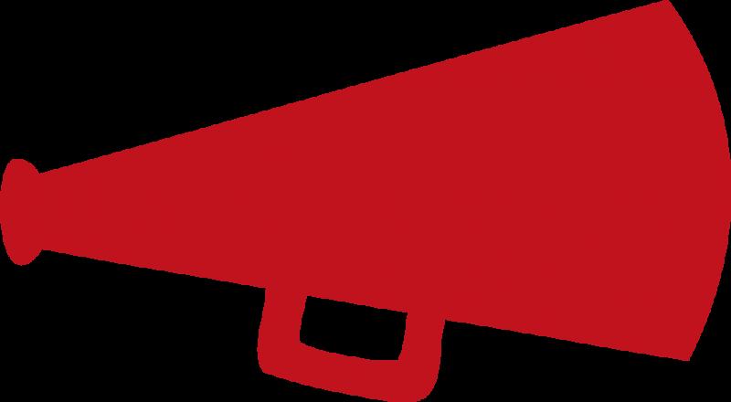 Red frames illustrations hd. Megaphone clipart rant