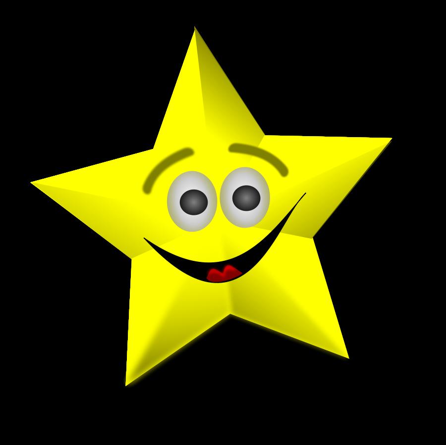 Cartoon stars free star. Smiley clipart megaphone