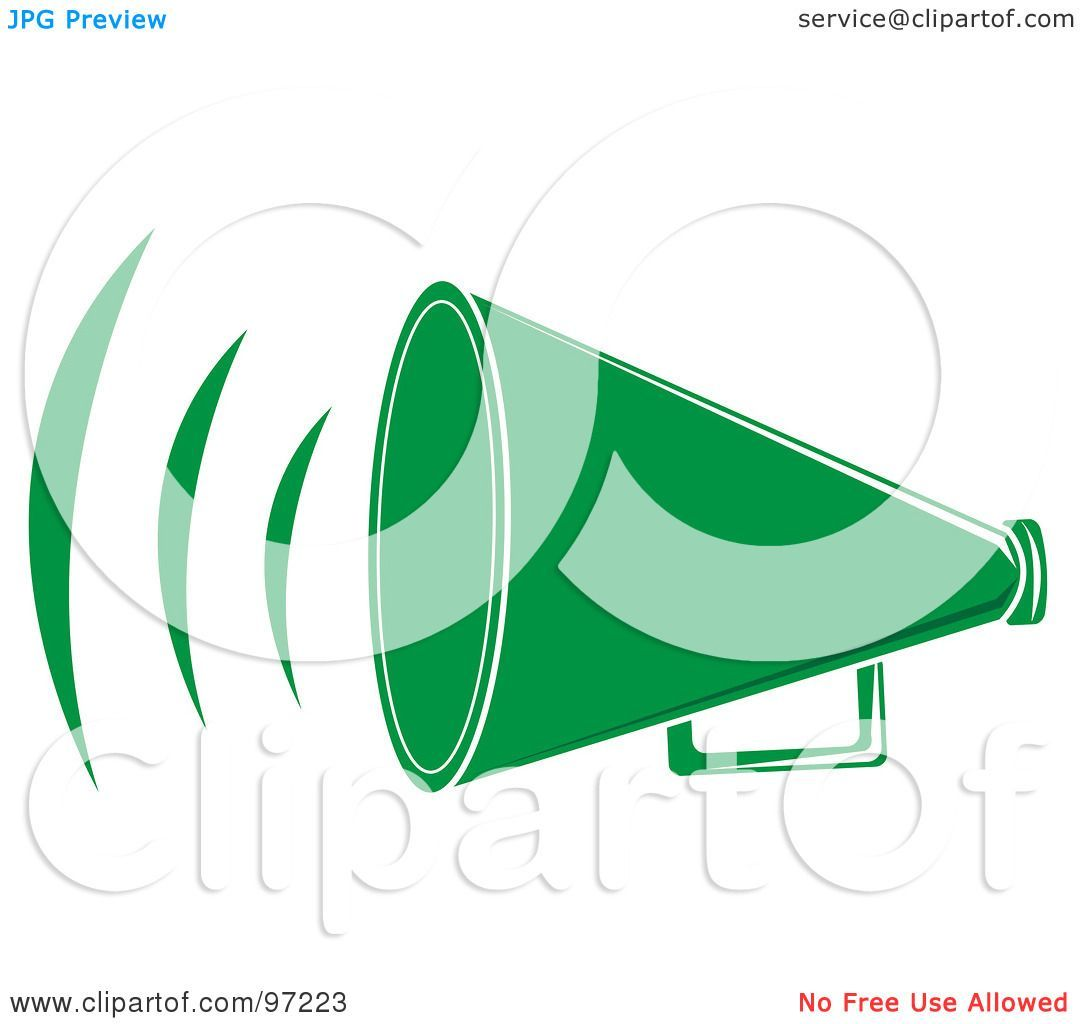 Royalty free rf illustration. Megaphone clipart sound wave