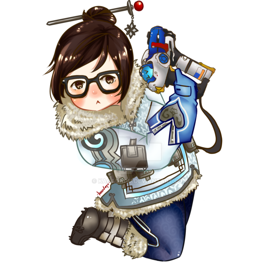 Chibi by kacadagu on. Mei overwatch png