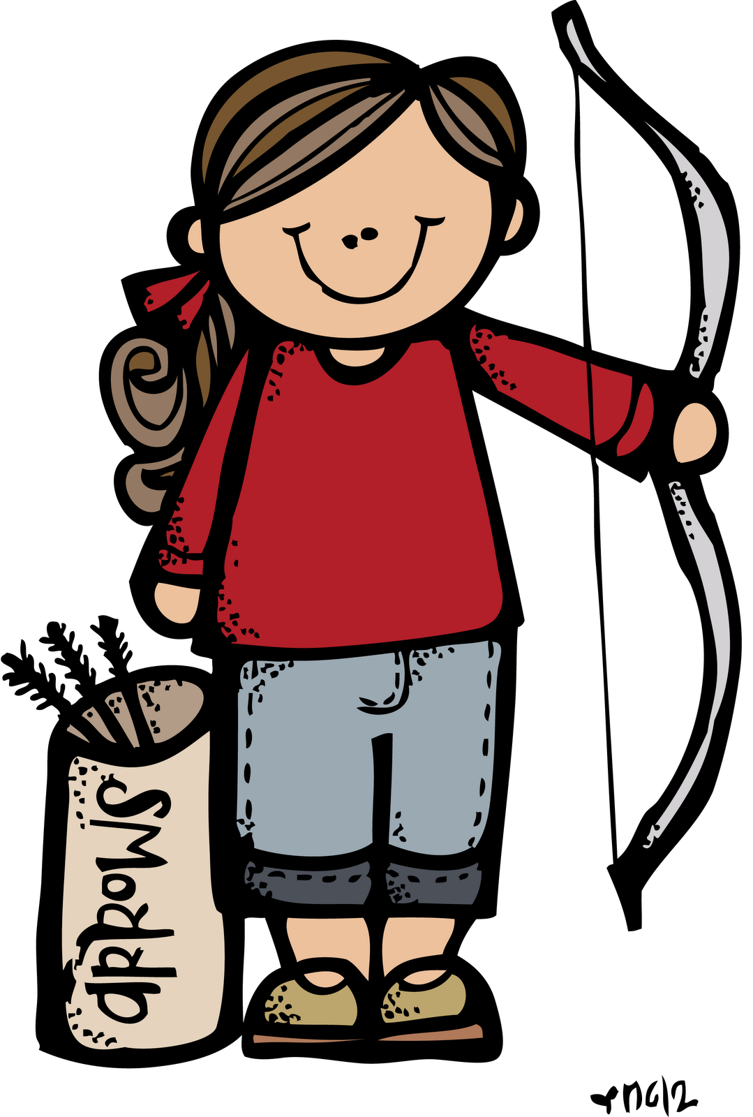 Camper clipart person. Melonheadz lds illustrating girls