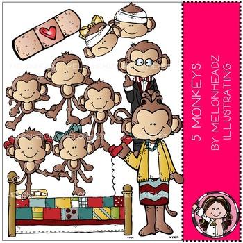 little monkeys clip. Melonheadz clipart monkey
