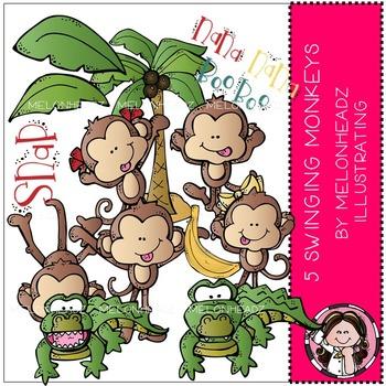 Melonheadz clipart monkey.  swinging monkeys clip