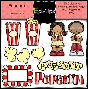 Free clip art bundle. Melonheadz clipart popcorn