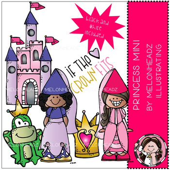 Melonheadz clipart princess. Clip art mini by