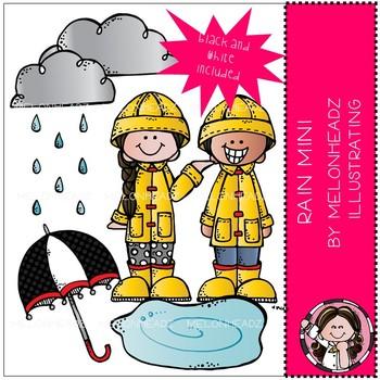 Melonheadz clipart rain. Clip art mini set
