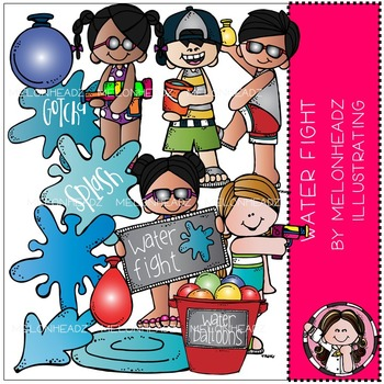 Melonheadz clipart water. Fight clip art combo