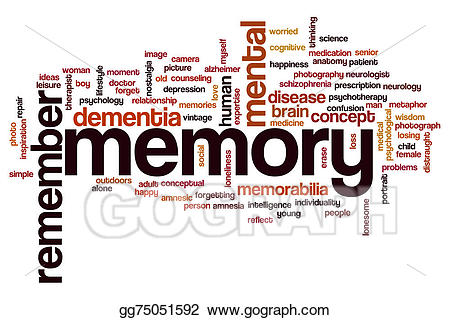 Stock illustration word cloud. Memory clipart