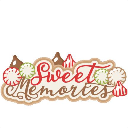 Sweet scrapbook title clip. Memories clipart