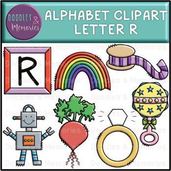 Alphabet Beginning Sounds Clipart Letter R by Doodles and Memories