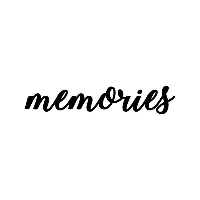 Memories clipart. Letter phrase graphics svg