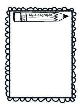 Memories clipart autograph. End of the year