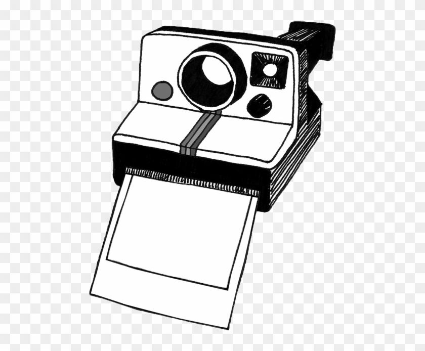 Camera gu memories . Polaroid clipart black and white