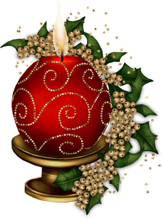 Bougie de no l. Memories clipart christmas