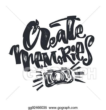 Clip art vector create. Memories clipart concept