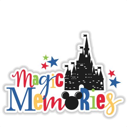Magic title svg scrapbook. Memories clipart file