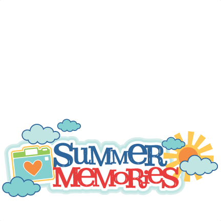 Memories clipart file. Summer title svg scrapbook