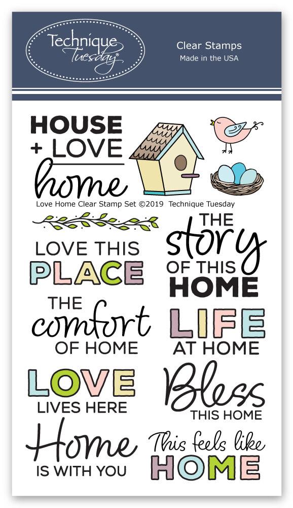 Home stamp set . Memories clipart love life