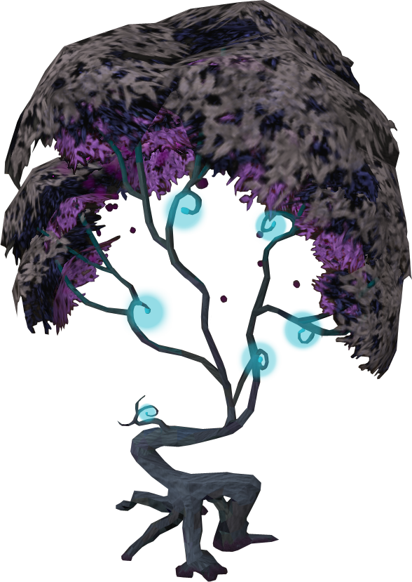 Memories clipart purple tree. Image cursed magic png