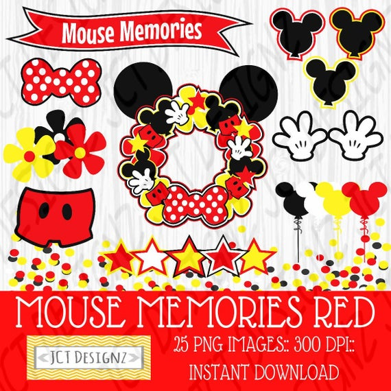 Mouse mickey inspired scrapbook. Memories clipart quality life
