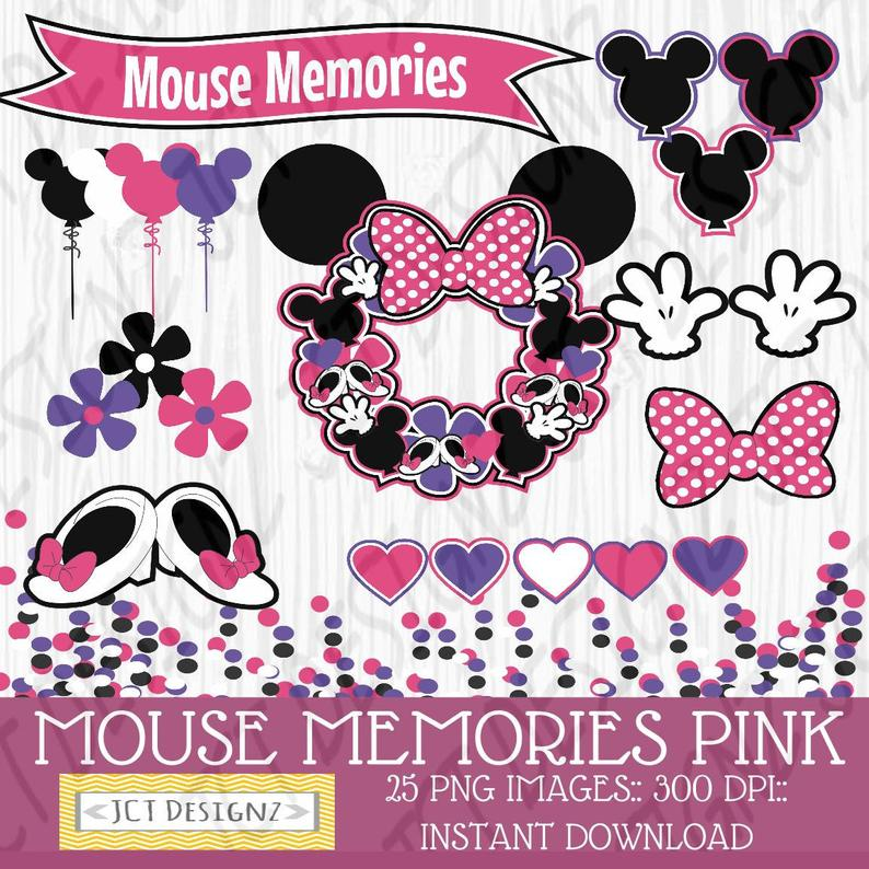 Mouse minnie inspired disney. Memories clipart quality life
