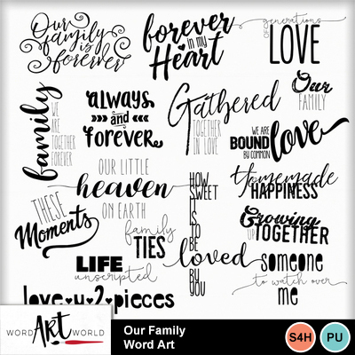 Memories clipart word. Clip art our family