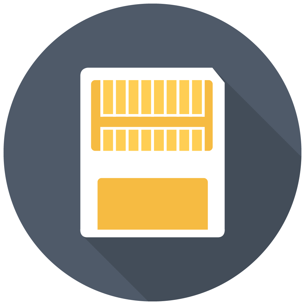 Card icon free flat. Memory clipart bad memory
