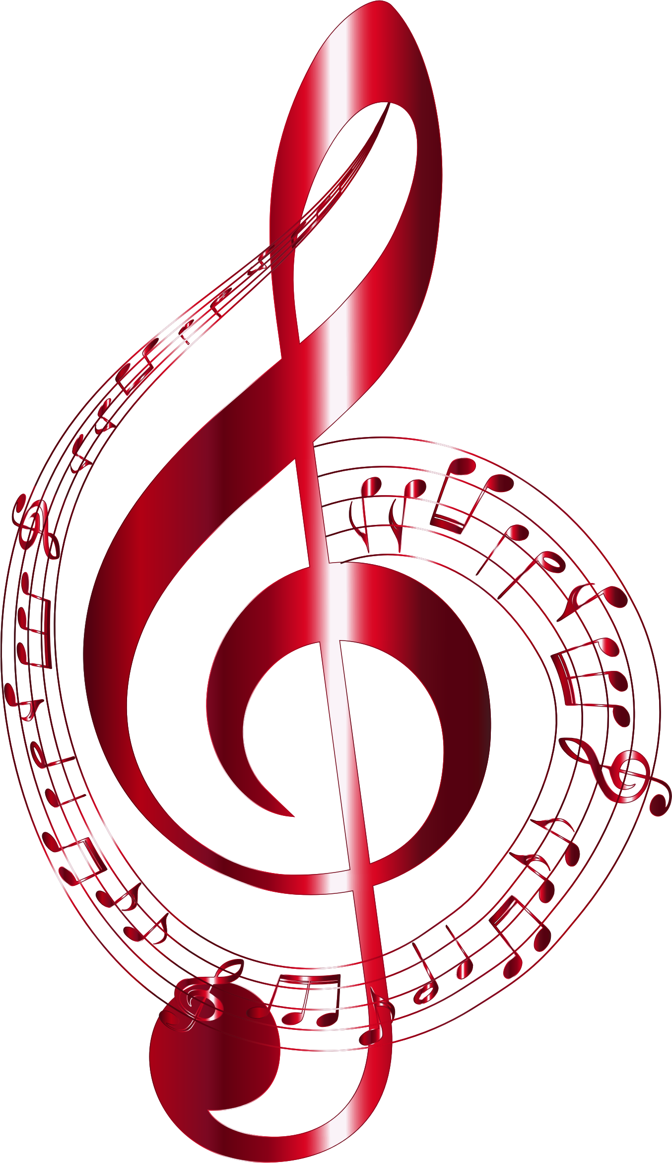 Vermilion musical notes typography. Silhouette clipart music