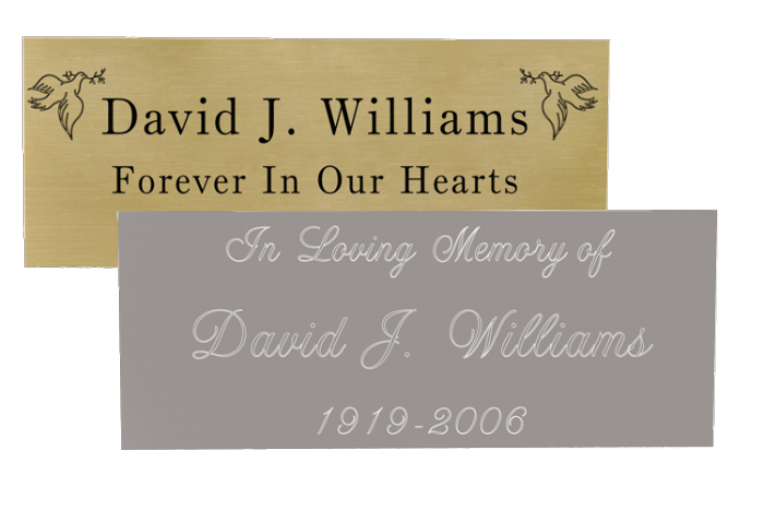 Engraved memorial plaques in. Memory clipart remembrance