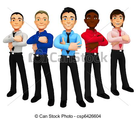 Men clipart. Group of